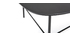 Table basse design métal noir L93 cm BLOOM
