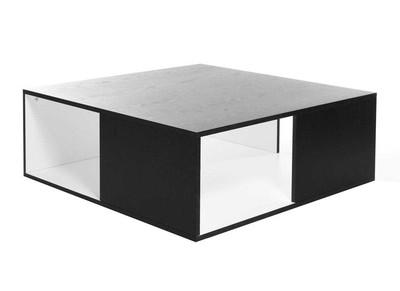 Table basse design noire et blanche CUBIK