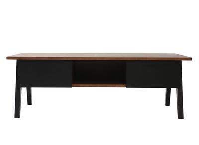 Table basse design nos tables basses carr es rondes pas - Table basse noir design ...