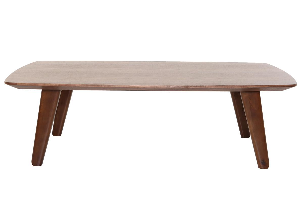Table basse design noyer fifties soldes - Soldes table basse ...