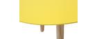 Table basse design ovale 120cm jaune EKKA