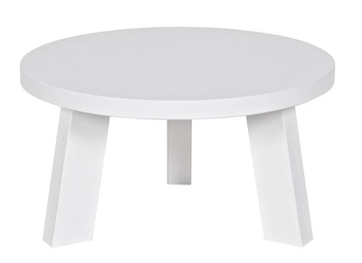 Table basse design pin blanc 50x27cm NATO