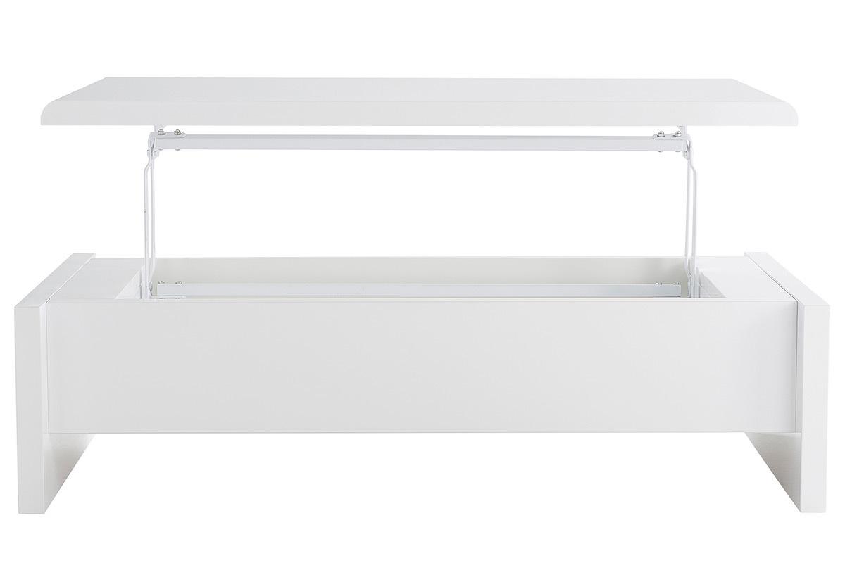 Hauteur guide d 39 achat - Table basse blanche avec rangement ...