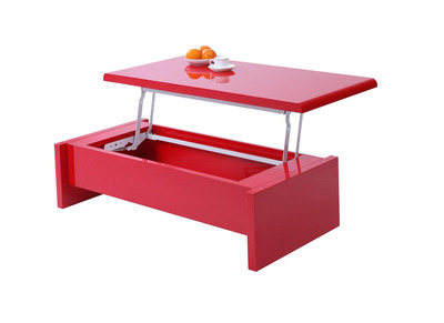 Table basse design nos tables basses carr es rondes pas cher miliboo - Table basse relevable rouge ...