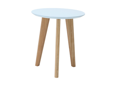 Table basse design ronde 40cm bleu pastel BELAK