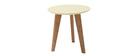 Table basse design ronde 40cm jaune pastel BELAK