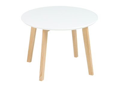 Table basse design ronde 50cm blanc mat SARA