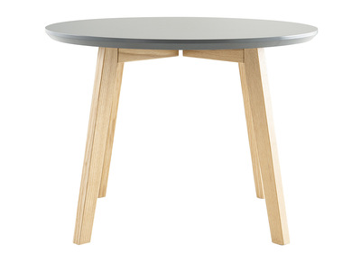 Table basse design ronde 50cm gris mat SARA