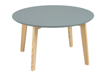 Table basse design ronde 80cm gris mat  SARA