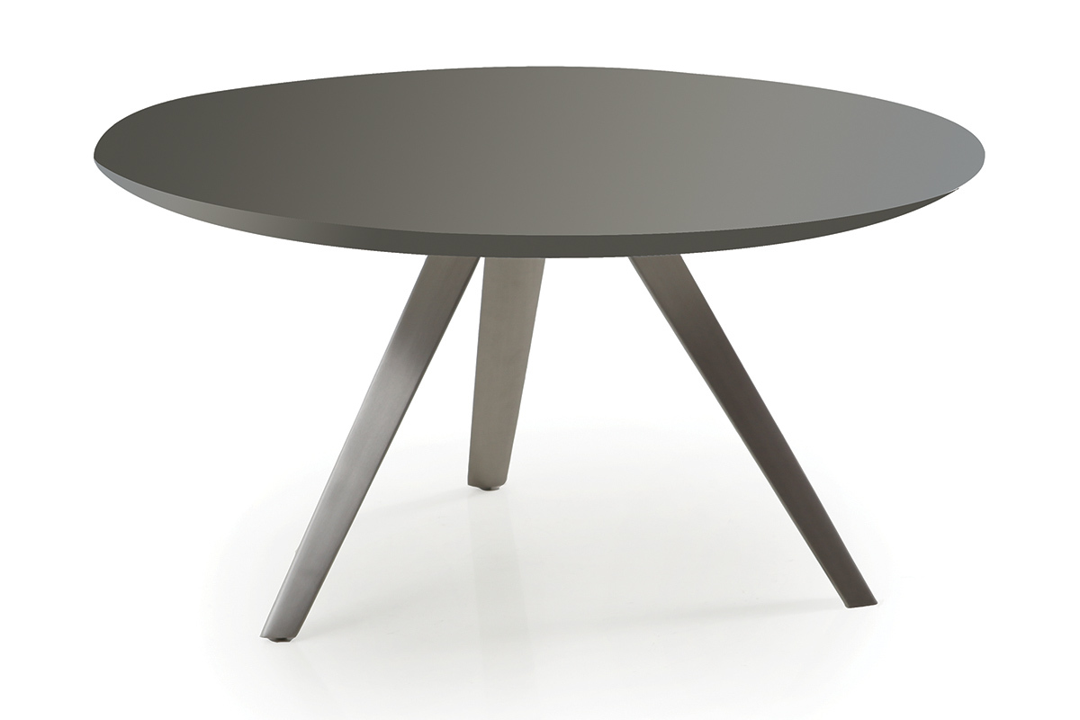 Table basse ronde noire design for Table basse design ronde