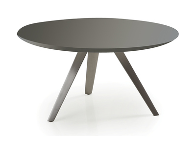 Table basse design ronde gris mat MARNY