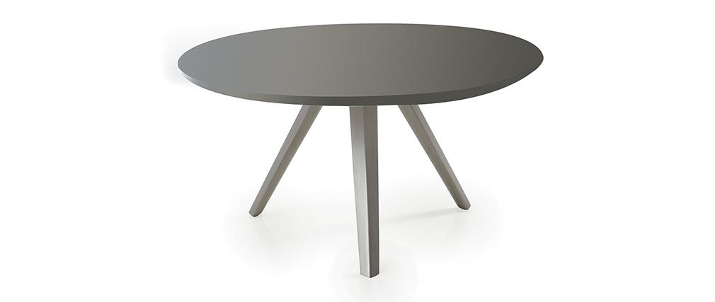 table basse design ronde gris mat marny miliboo. Black Bedroom Furniture Sets. Home Design Ideas