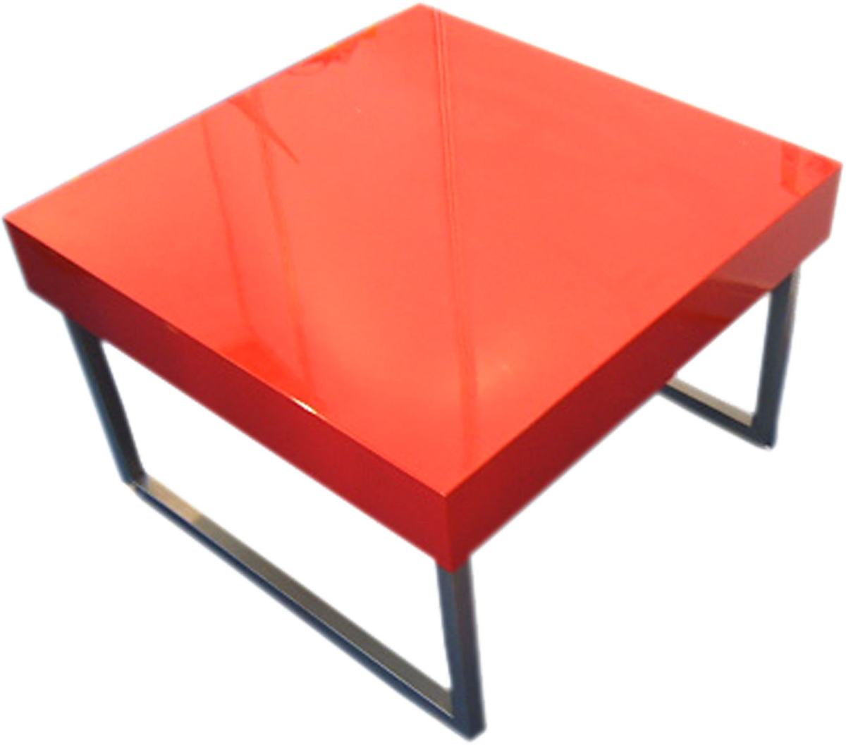 Table basse laquee rouge for Table extensible quadrato