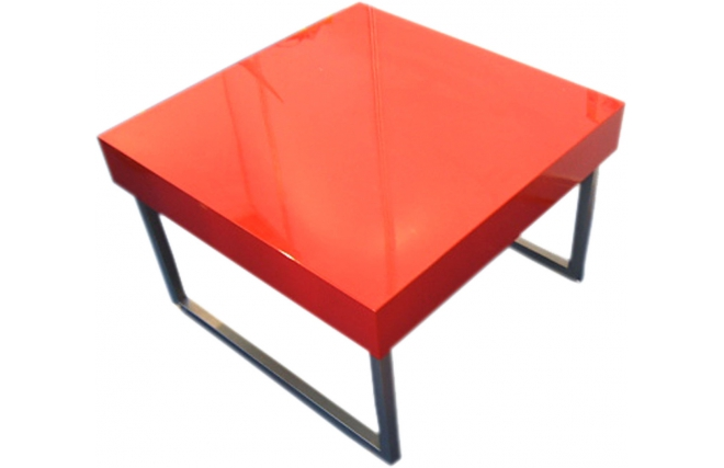 Table basse carree laquee gris - Table basse design rouge ...