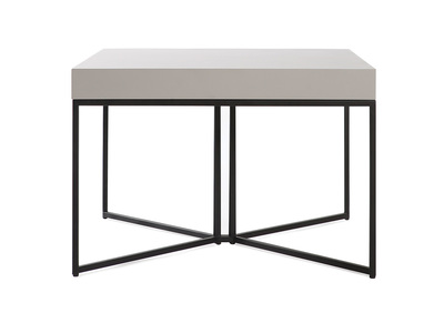 Table basse design taupe mat et noir YTA
