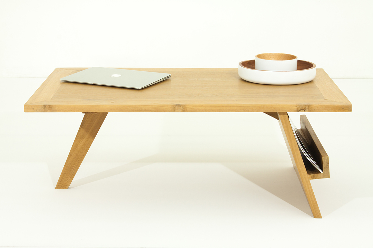 Table basse design teck massif tektona miliboo - Table basse teck massif ...