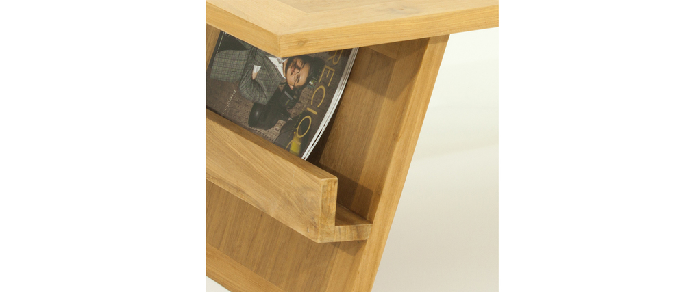 Table Basse Teck Massif Naturel ~ Table Basse Design Teck Massif TEKTONA  Miliboo