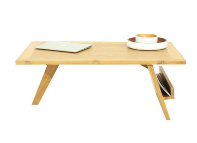 Table basse design teck massif TEKTONA
