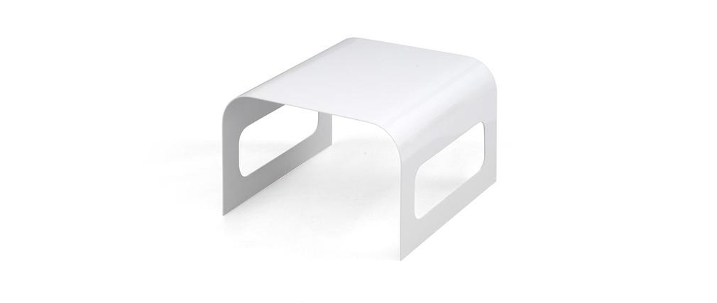 Table basse Design TRACKS II Blanche
