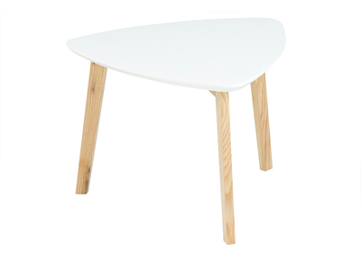 Table basse design triangle blanc SARA