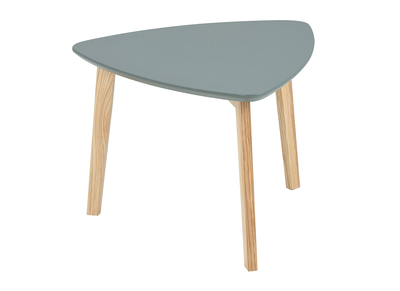 Table basse design triangle gris SARA