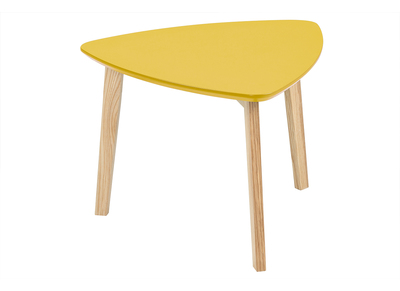 Table basse design triangle jaune curry SARA