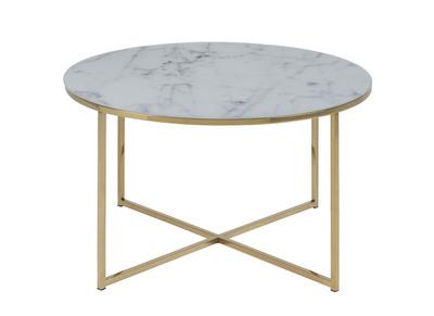 mieux aimé 52a40 93184 Table basse effet marbre et pieds métal 80 cm SILAS