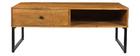 Table basse en manguier massif et métal CHENY
