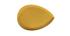 Table basse goutte en acier laqué jaune L80 cm DROP