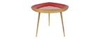 Table basse goutte en acier laqué terracotta L80 cm DROP