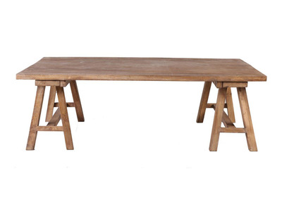 Table basse industrielle bois ANTIQUA