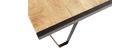 Table basse industrielle bois massif INDUSTRIA