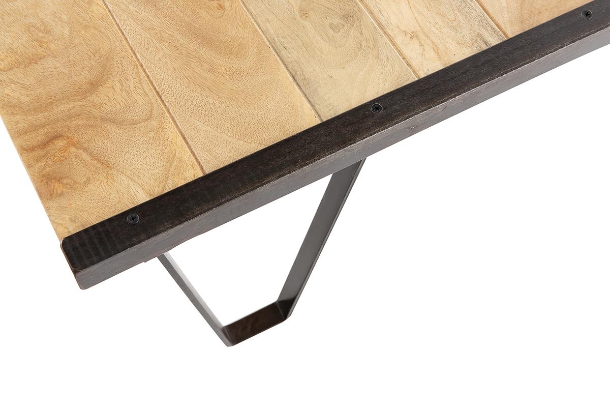 table basse industrielle bois massif industria miliboo. Black Bedroom Furniture Sets. Home Design Ideas