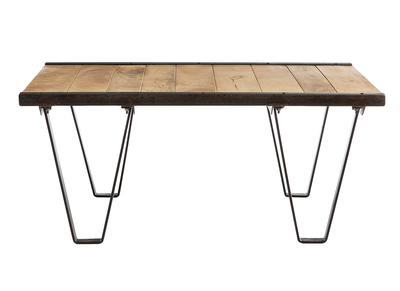 Table basse industrielle bois massif INDUSTRIA