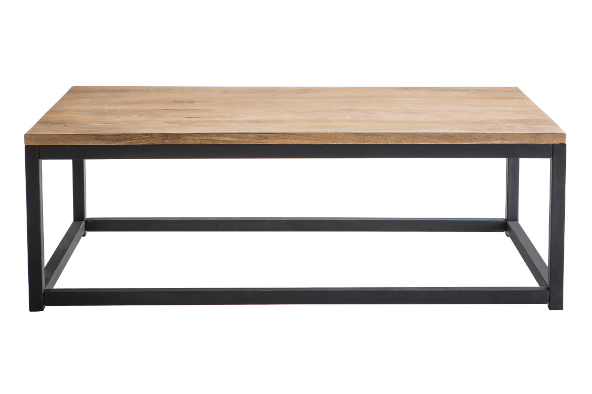 Basse guide d 39 achat - Table basse industrielle bois metal factory ...
