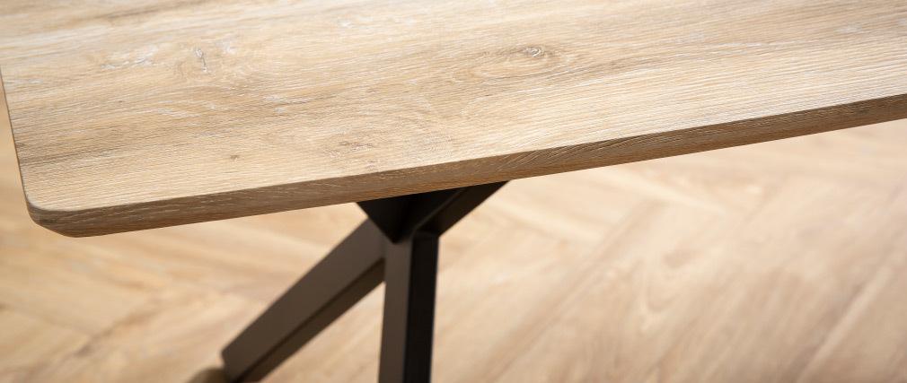 Table basse industrielle effet chêne et métal L120 cm HYGGE