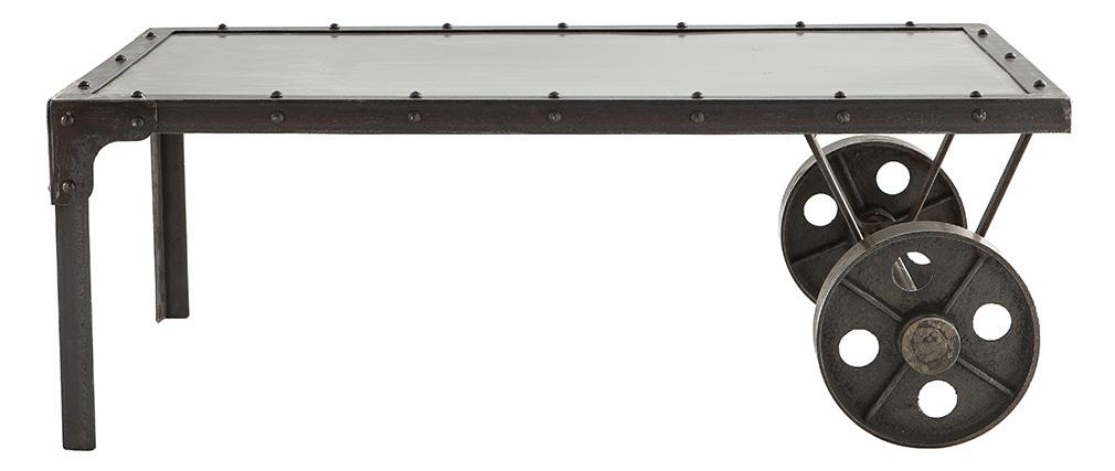 Table basse industrielle métal CHARIOT