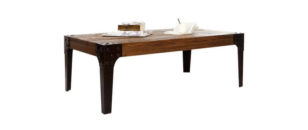 Table basse industrielle metal et bois madison - Table basse industrielle metal et bois ...
