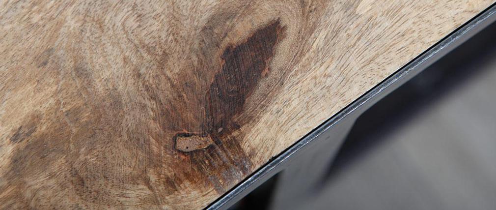Table basse / meuble TV bois massif et métal industriel ATELIER ROLL