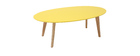 Table basse ovale jaune L120 cm EKKA