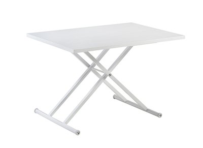 Table basse relevable design blanc LEVOS