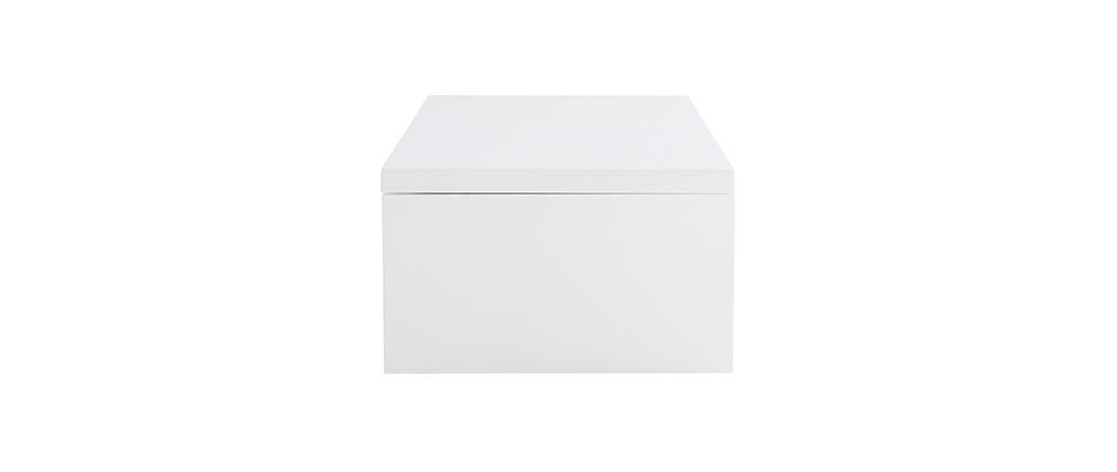 Table basse relevable design blanche avec rangement LOLA