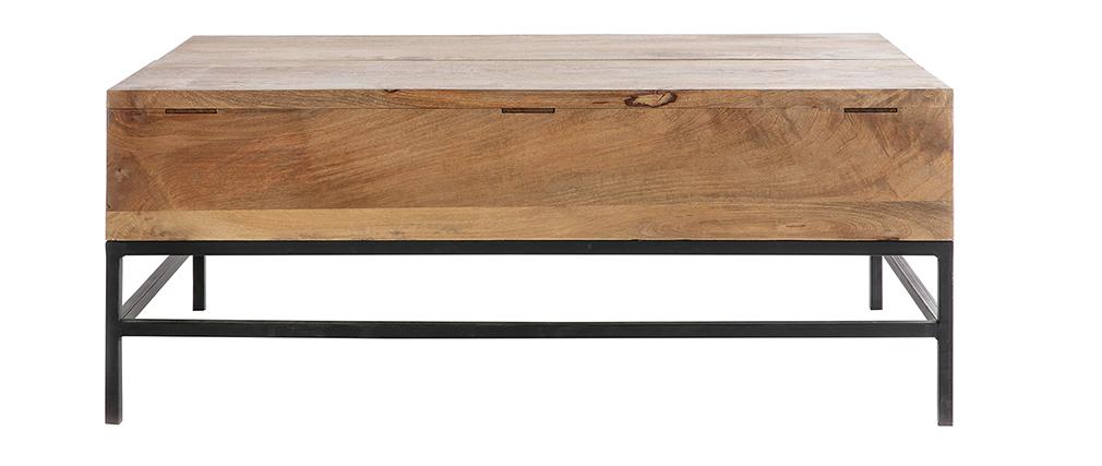 Table basse relevable industrielle manguier et métal L110 YPSTER