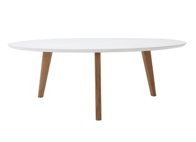Table basse ronde 100cm blanc EKKA