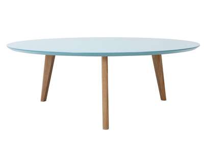 Table basse ronde 100cm bleu EKKA