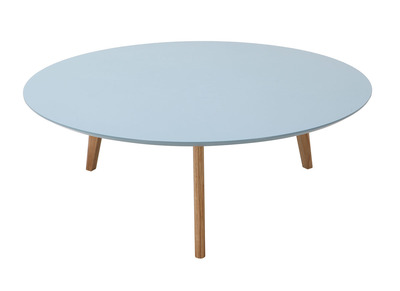Table basse ronde 100cm gris clair EKKA