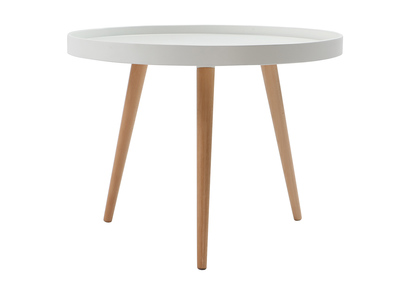 Table basse relevable design ou de style scandinave miliboo for Table basse ronde blanche et bois