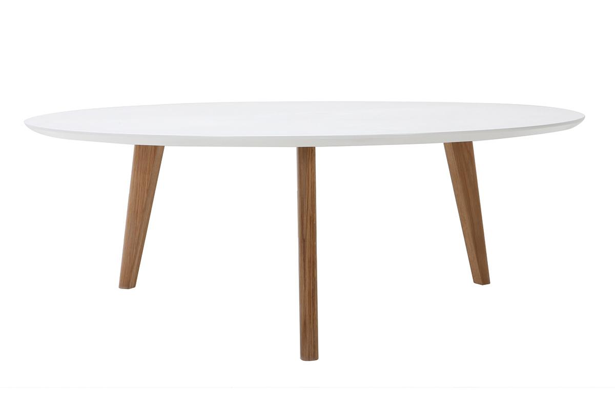 Table Basse Ronde Blanche L100 Cm Ekka Miliboo