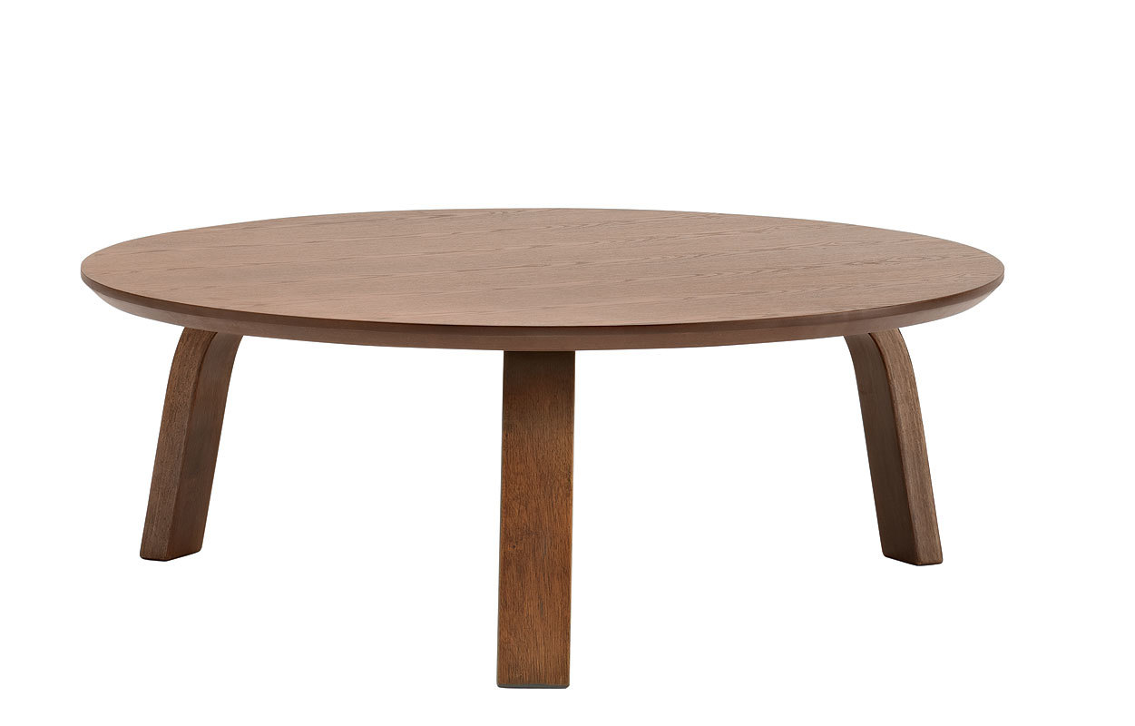 Table basse ronde bois chocolat clair nella miliboo - Table basse ronde but ...