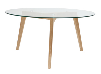 Verre Et Bois Design Ronde Davos Contemporain Table Basse WYDIeEH29